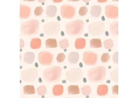 浅粉色的水彩画圆点图案_12267144