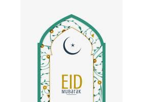 清真寺大门阿拉伯花卉装饰开斋节背景_4533793