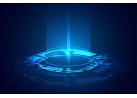 未来科技发光光束横幅设计_8765567