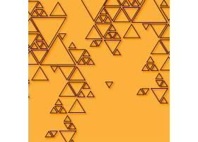 橙色背景上的抽象三角形_6077934