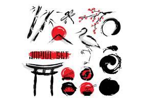 日本苏美水墨画图标集_2869888