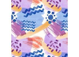 抽象水彩线点无缝图案_12267348