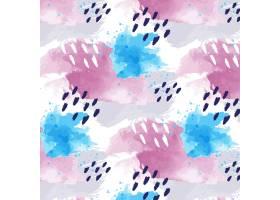 抽象水彩画带点无缝图案_12263106