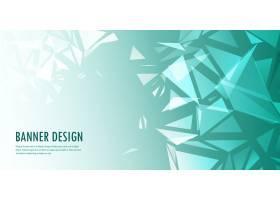 抽象的低面横幅设计_4678136