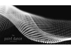 抽象单色粒子波背景_10559770