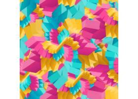 抽象多彩几何装饰矩形无缝图案_10817167
