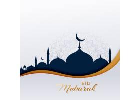 开斋节穆巴拉克与清真寺的伊斯兰问候_4077164