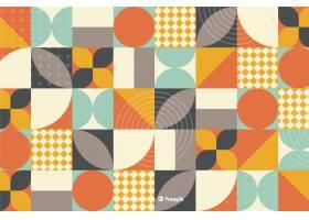 彩色几何形状镶嵌背景_4906464