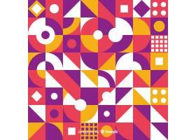 彩色几何形状镶嵌背景_4906465