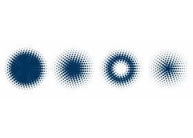 四个圆形半色调图案集_10317838