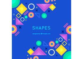 几何形状的抽象背景_2497172