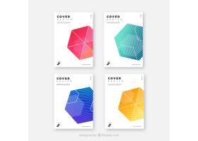 具有几何设计的现代封面模板集_2525372