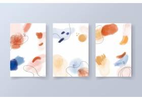 具有水彩画形状的现代卡片收藏_9882622