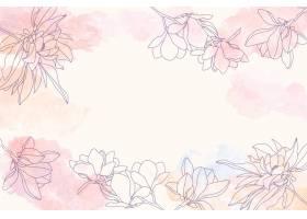 具有花卉手绘元素的水彩临摹空间背景_12263070