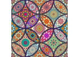 五颜六色的背景与不同的曼陀罗_1025489