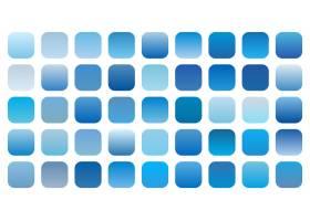 一组蓝色天空渐变阴影组合_8152365