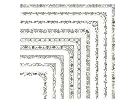 一组角边框插图单色风格的装饰框_13400103