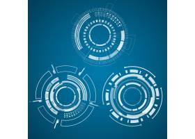 三人组的现实技术集合圆圈正方形和其他_11242858