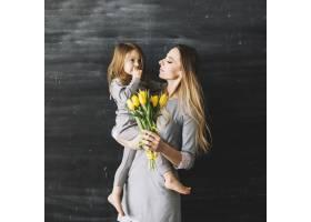 母女欢度母亲节快乐_1937452