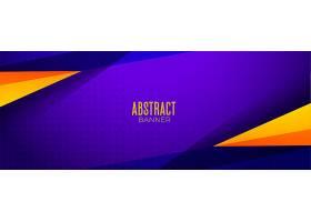 运动风格的紫色抽象横幅_12438454
