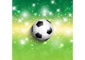 闪亮绿色背景上的足球_827983