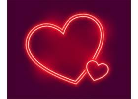 闪闪发光的霓虹灯心向情人节致以问候_12158411