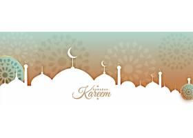 阿拉伯风格的斋月卡里姆或开斋节穆巴拉克横_13442025
