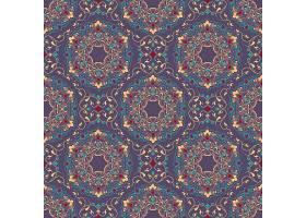 阿拉伯风格的花卉无缝图案背景_1534666