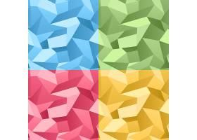 矢量彩色无缝3D褶皱水晶抽象背景_11060714