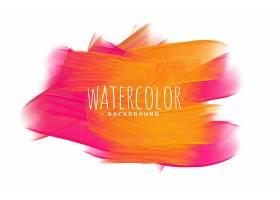 粉色和橙色的抽象水彩画背景_12686008