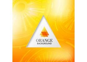 橙色矩形抽象背景_10120340