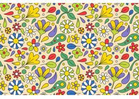 春暖花开春叶飘逸的花卉图案_12371695
