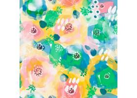 拥挤的抽象水彩画无缝图案上鲜艳的色彩_12395387