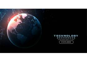 数字技术地球网线路背景_13514337