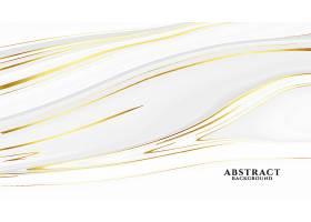 抽象的白色和金色大理石纹理背景_9406136