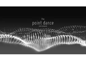 抽象粒子波流未来主义和技术背景_10718908