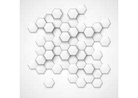 抽象六边形矢量背景六角形几何六角形_13381397