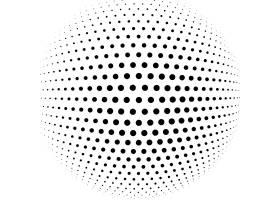 抽象半色调球体矢量背景_2395533