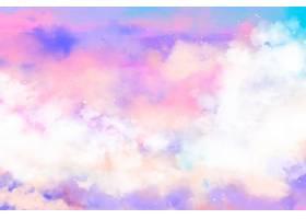 手绘水彩粉彩天空背景_13403244