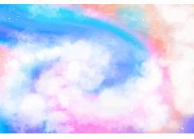 手绘水彩粉彩天空背景_13403245