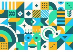 平面抽象的彩色几何形状_11631240