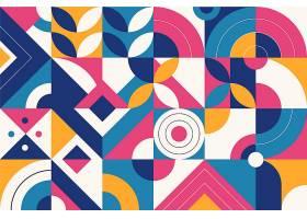 彩色抽象几何形状平面设计_12262867