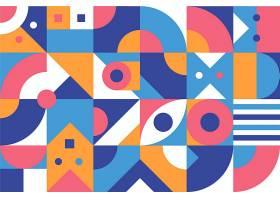 彩色抽象几何背景平面设计_12262868