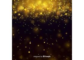 奢华的背景带有金色颗粒的bokeh_5105536