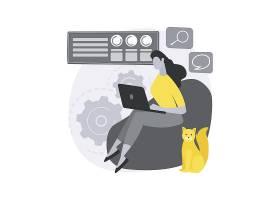 工作家庭办公室抽象概念插图_13450256