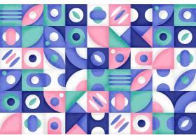 具有五颜六色形状的几何背景_13295543