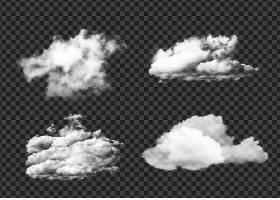 写实飘逸白云图案集锦_13487011
