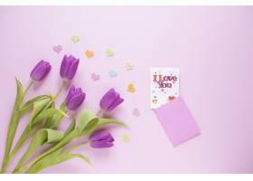 母亲节背景有玫瑰花和卡片_1958396