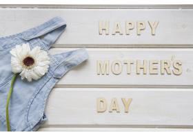 母亲节连衣裙上有鲜花的构图_2021930