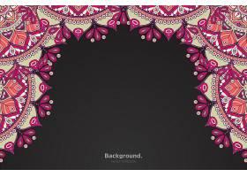 黑色框架带有抽象的东方曼陀罗_10867435